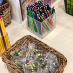 Pins and pens at the Squad Shoppe